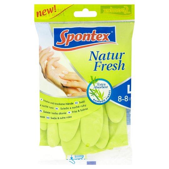 Spontex Natural Fresh Gloves L 8-8 1/2