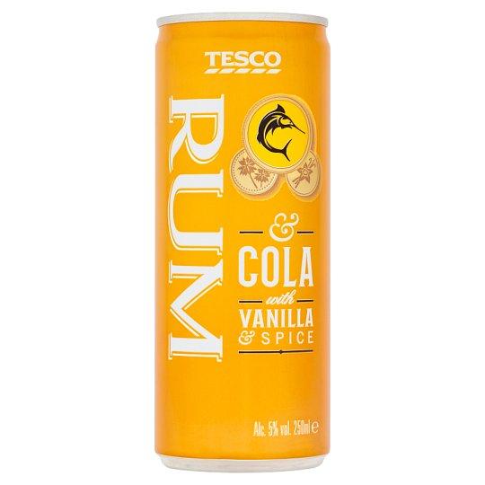 Tesco Rum & Cola with Vanilla & Spice 250ml