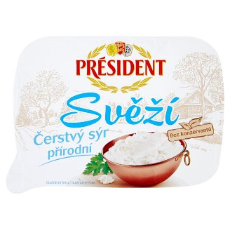 Président Svěží Fresh Natural Cheese 125g