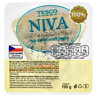 Tesco Niva Cheese with Mold Inside the Mass 100g