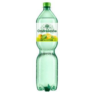 Ondrášovka Jemně perlivá minerální voda s příchutí limetka a citron 1,5l