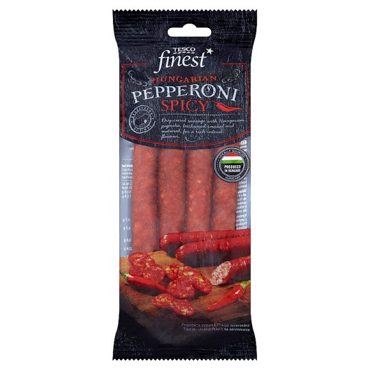 Tesco Finest Hungarian pepperoni spicy 100g