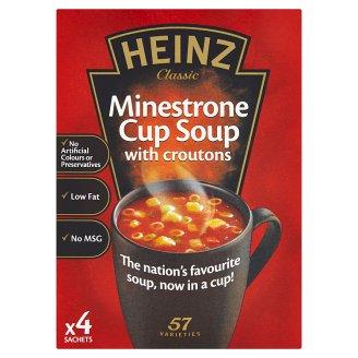 Heinz Minestrone s krutony instantní polévka 4 x 18g
