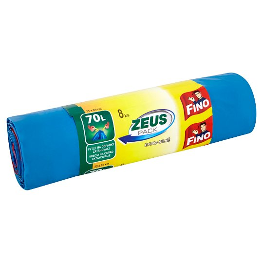 Fino Zeus Pack Garbage Bags with Tie Handles 70L 8 pcs