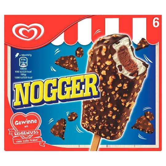 Nogger Iccore Chocolate Ice Cream 6 x 94ml