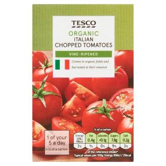 Tesco Organic Bio sekaná rajčata v rajčatové šťávě 390g