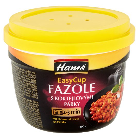 Hamé EasyCup Beans with Cocktail Sausages 400g