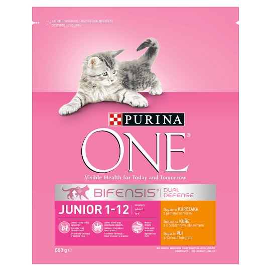 Purina ONE Junior Rich in Chicken and Whole Grain Cereals 800g