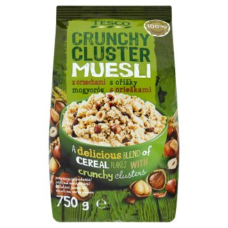 Tesco Crunchy Cluster Muesli with Hazelnuts 750g