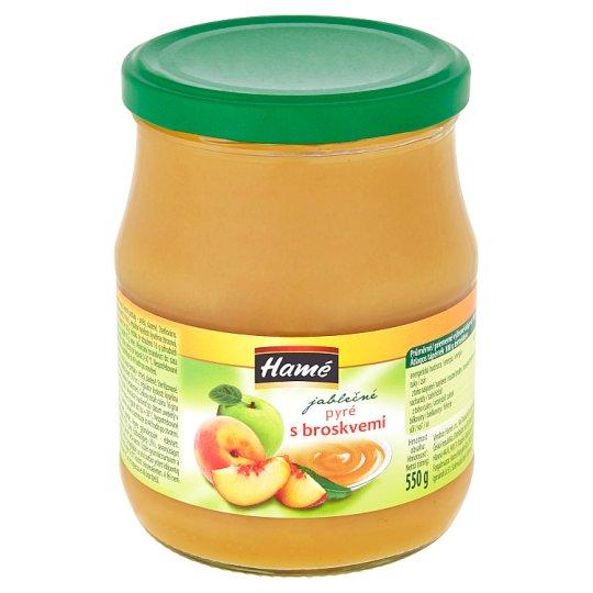 Hamé Apple Puree with Peaches 550g