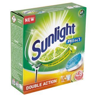 Sunlight All in 1 Citrus Fresh tablety do myčky nádobí 48 ks 840g