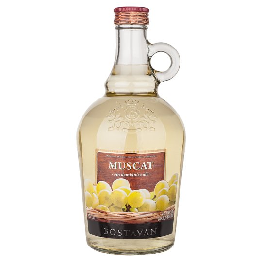 Bostavan Muscat Medium Sweet White Wine 1L