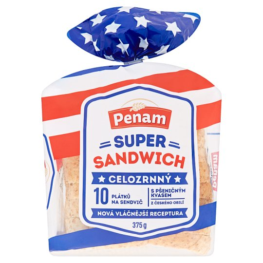 Penam Super Sandwich Wholemeal 375g