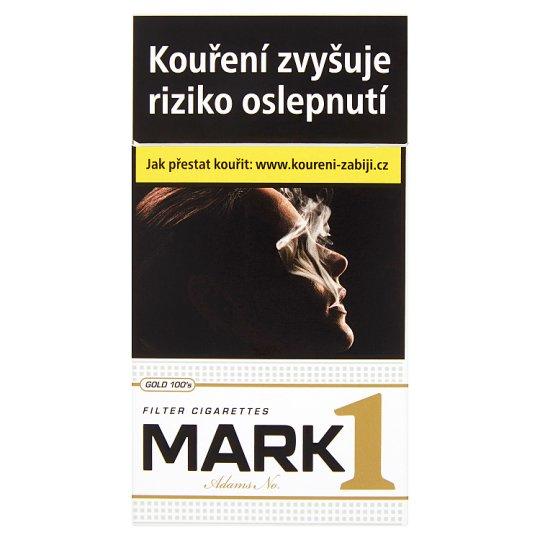 Mark Adams No.1 Gold 100's cigarety s filtrem 20 ks