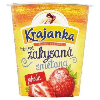 Krajanka Sour Cream with Strawberry Flavour 130g