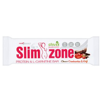MaxSport Slim Zone Choco Cranberries Goji Protein Bar in Dark Icing 40g