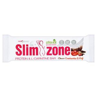 MaxSport Slim Zone Tyčinka s vysokým obsahem bílkovin v tmavé polevě - brusinková 40g