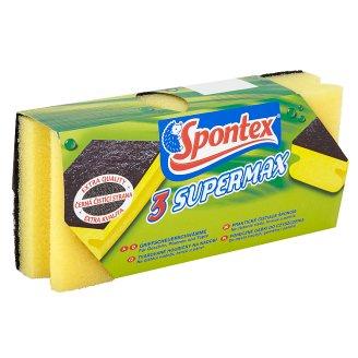 Spontex Supermax tvarované houbičky na nádobí 3 ks