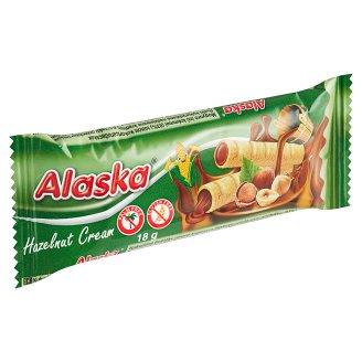 Alaska Kukuřičné trubičky plněné lískooříškovým krémem 18g