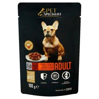 Tesco Pet Specialist Premium kousky s krůtím a zvěřinou v omáčce 85g