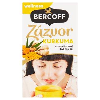 Bercoff Wellness Aromatizovaný bylinný čaj zázvor, kurkuma 20 x 2,0g
