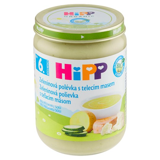 HiPP Organic Vegetable Soup with Veal Meat 190g