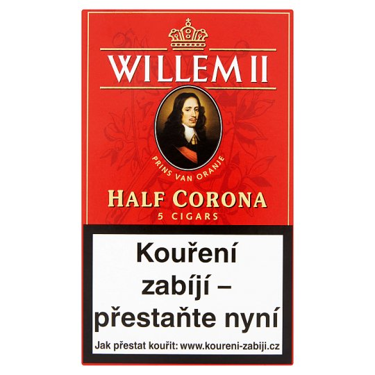 Willem II Half Corona Cigars 5 pcs