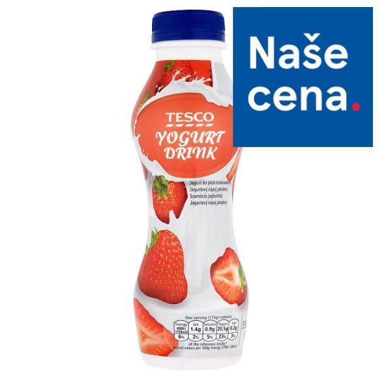 Tesco Jahodový jogurtový nápoj 350g