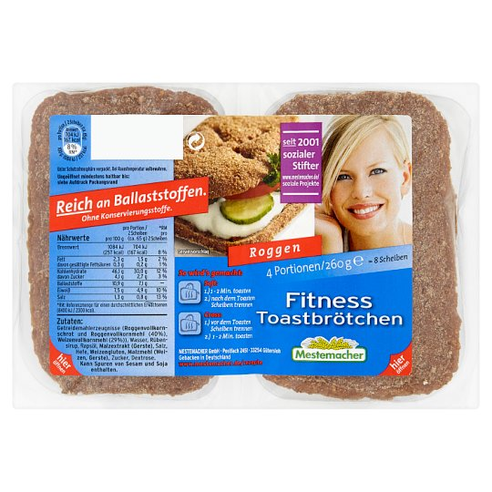 Mestemacher Fitness Toast 260g
