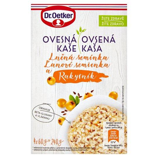 Dr. Oetker Ovesná kaše lněná semínka a rakytník 240g