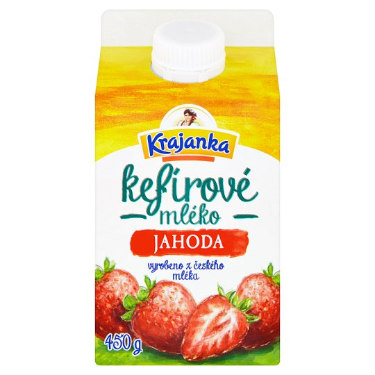 Krajanka Strawberry Kefir's Milk 450g