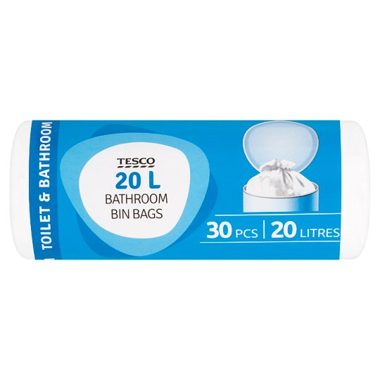 Tesco Bathroom Bin Bags 20l 30 pcs