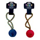 Petface Toyz Rope Ball Dog Toy
