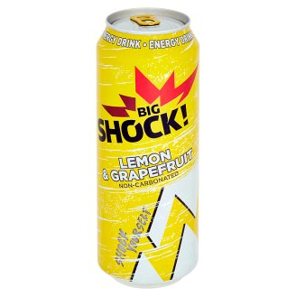 Big Shock! Lemon & grapefruit energetický nápoj 500ml