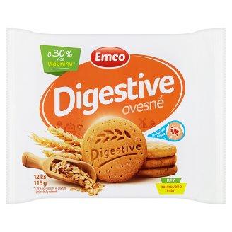 Emco Digestive ovesné 12 ks 115g