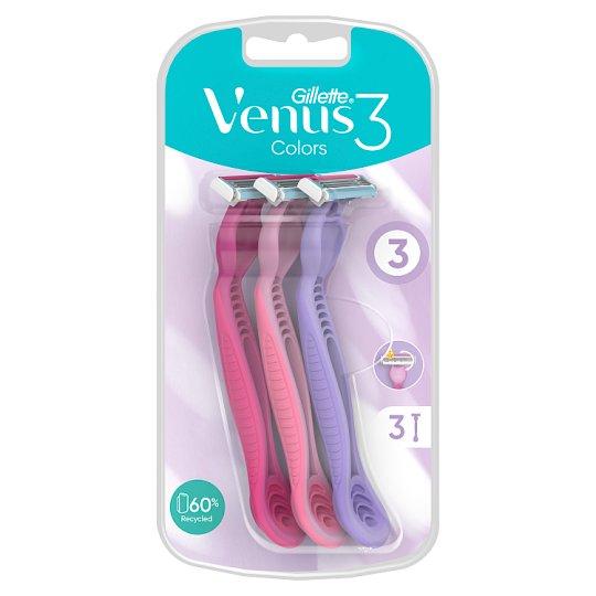 Gillette Simply Venus 3 Dámská Pohotová Holítka, 3ks