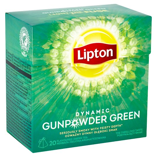 Lipton Green Flavored Tea Dynamic Gunpowder 20 bags