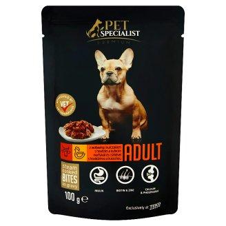 Tesco Pet Specialist Premium Adult kousky s hovězím a kuřecím v omáčce 100g