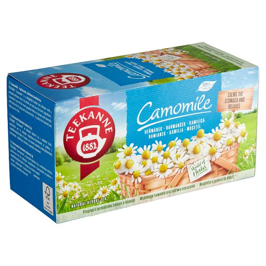 TEEKANNE Camomile, Natural Herbal Tea, Camomile Tea, 20 Bags, 22g