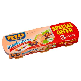 Rio Mare Insalatissime Messicana Finished Dish from Vegetables and Tuna 3 x 160g