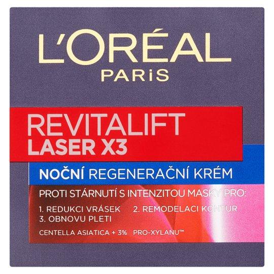 image 1 of L'Oréal Paris RevitaLift Laser X3 Regenerating Night Wrinkle Cream 50ml