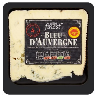 Tesco Finest Bleu d'Auvergne Full Fat Semisoft Cheese 150g