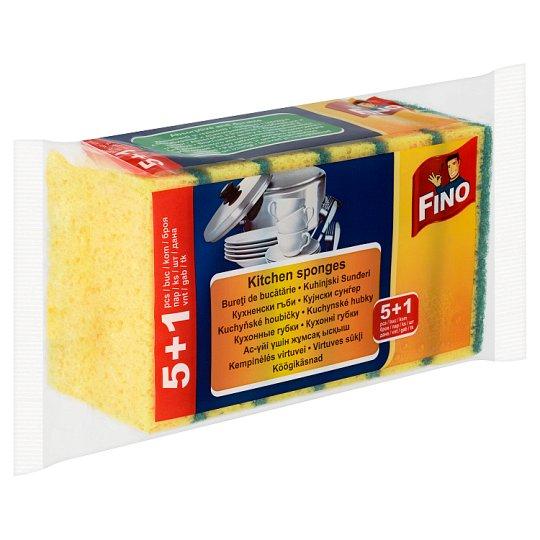 Fino Kitchen Sponges 5+1 pcs