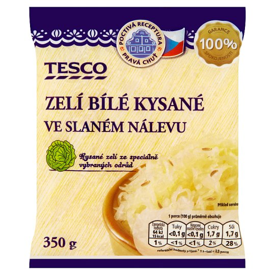 Tesco White Sauerkraut in Brine 350g