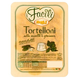 Dali i Facili Tortelloni Egg Noodles Stuffed with Ricotta Cheese and Spinach 250g
