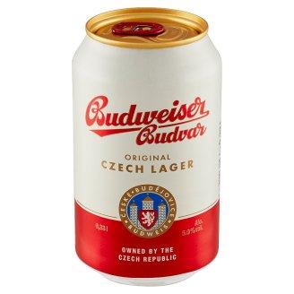 Budweiser Budvar Světlý ležák pivo 0,33l