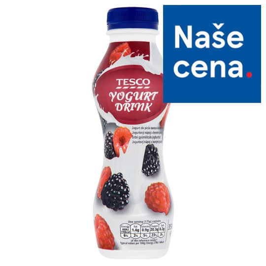 Tesco Blackberry-Raspberry Yoghurt Drink 350g