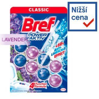 Bref Power Aktiv Fragrance Boost Lavender tuhý WC blok 2 x 50g
