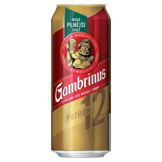 Gambrinus Plná 12 pivo ležák světlý 500ml