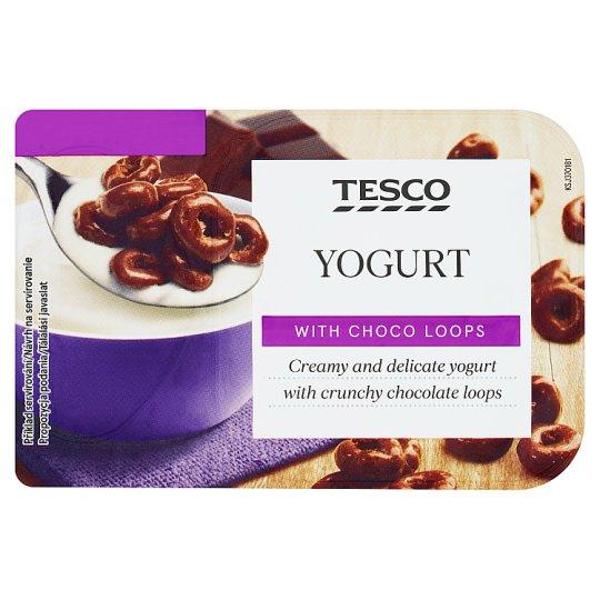 Tesco Bílý jogurt s kroužky v mléčné čokoládě 150g